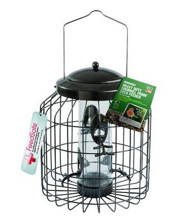 Eichhörnchensicher Futtersäule, Vogelfutterspender