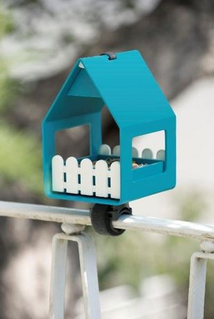 Universalhalterung Vogelhaus für Geländer Regenrohr